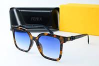 Солнцезащитные очки Fendi квадратные лео, фото 1