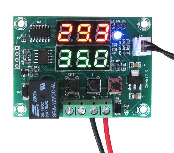 Терморегулятор цифровой XH-W1219 -50 +110С