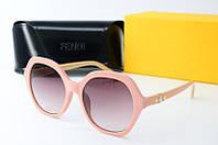 Солнцезащитные очки Fendi круглые розовые, фото 1
