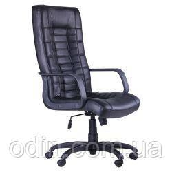 Кресло Парис Пластик Кожа Люкс комбинированная Черная 365698