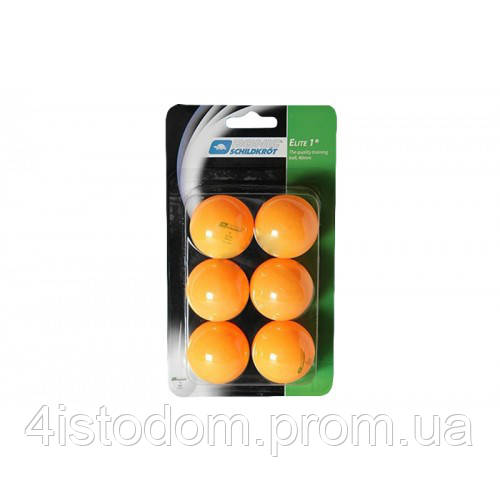 Мячи для настольного тенниса Elite 1* 40+ orange (6 шт)
