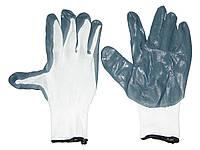 Перчатки рабочие 0690 прорезиненные маслобензостойкие сер/бел