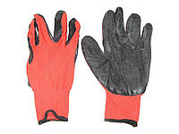 Перчатки рабочие 0688 прорезиненные маслобензостойкие красные