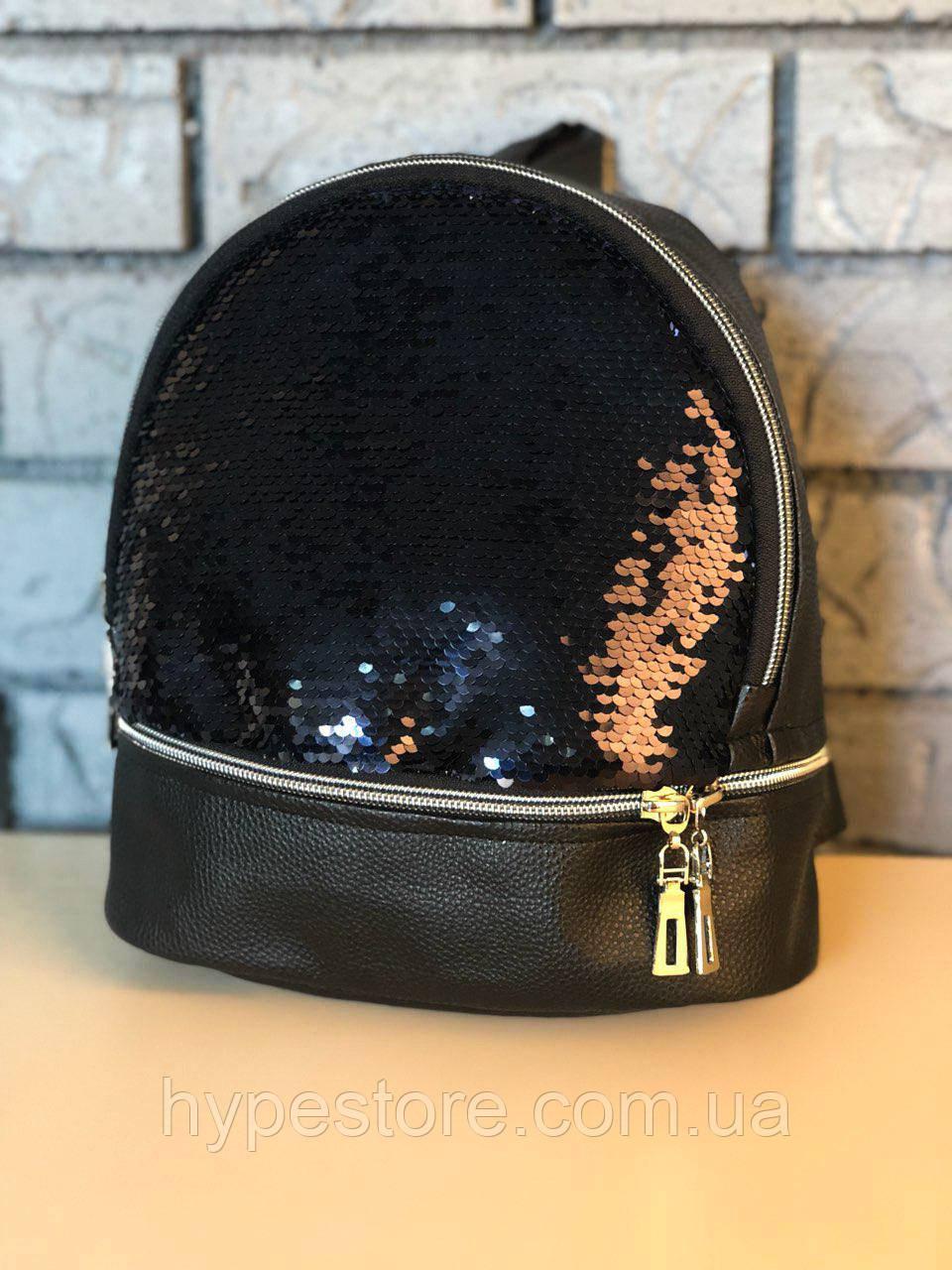 Женская сумка, сумочка, портфель, рюкзак со стразами (черный), Реплика