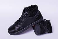 Ботинки подростковые из натуральной кожи чёрного цвета от производителя модель ПБ - 018