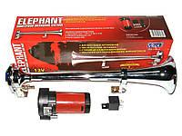 Сигнал 1-дудка возд. CA-13036 12V металл хром 360mm