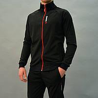 Черный мужской спортивный костюм Reebok (Рибок)  / Трикотаж-дайвинг / Размеры:46,48,50,52,54