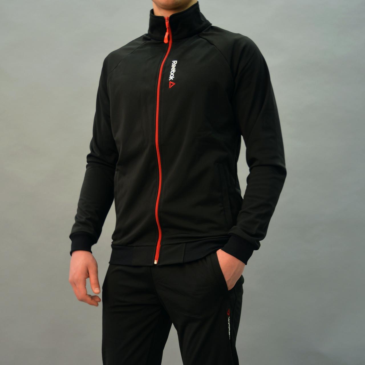 80c6c398 Размеры: 50,52. Черный мужской спортивный костюм Reebok (Рибок ...