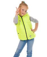 Яркая детская жилетка для девочки Лайм