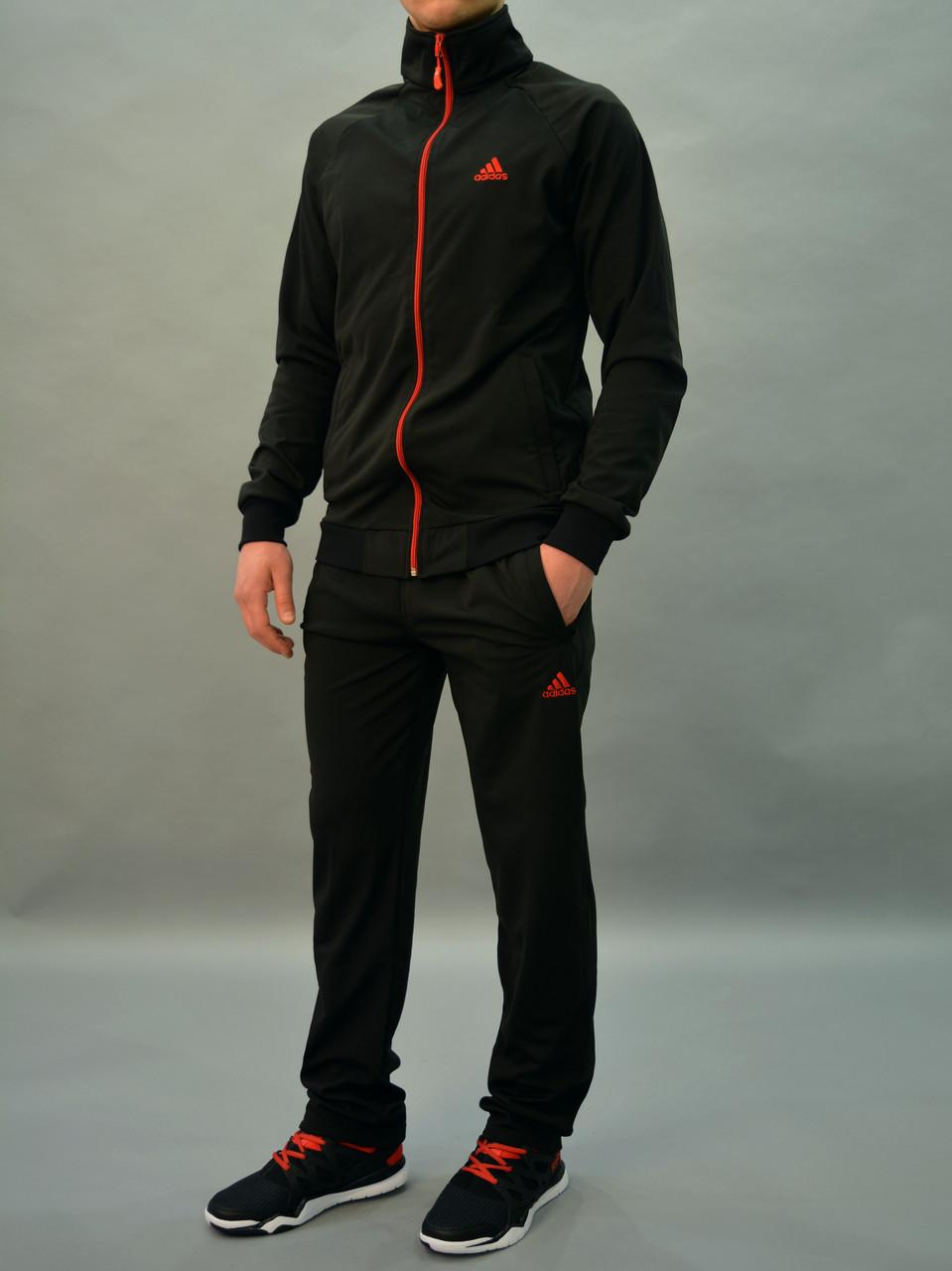 3334d7a3 Остались размеры: 46,48 Черный мужской спортивный костюм Adidas (Адидас) /  Трикотаж