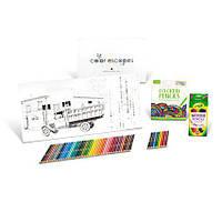 Набор для творчества, рисования Crayola Color Escapes Coloring Pages & Pencil Kit, Americana Edition! Уценка!
