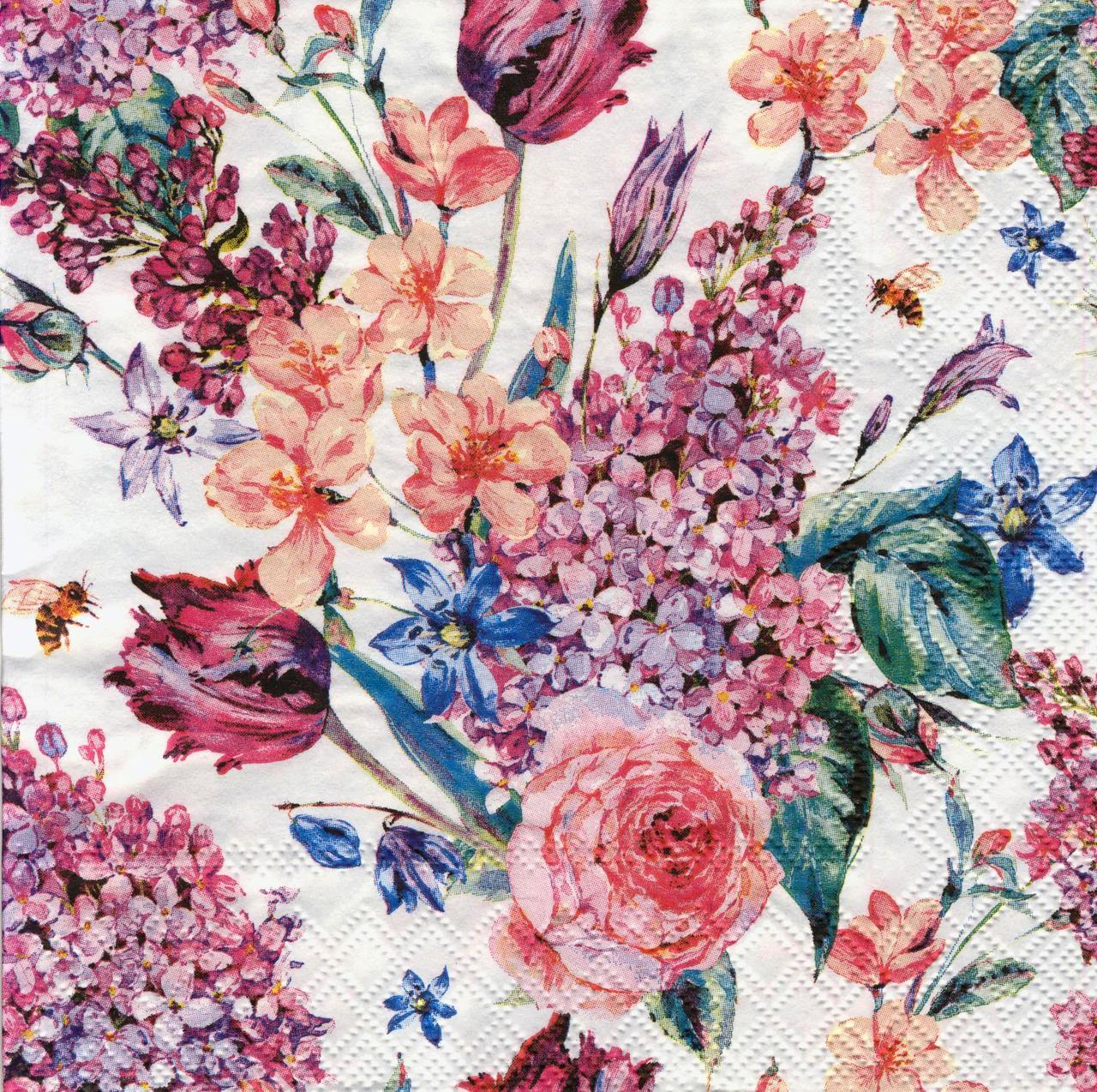 Салфетка декупажная Весенние цветы 7377