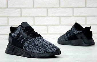 """Мужские кроссовки Adidas EQT Running Support ADV """"Black/Grey"""", фото 3"""
