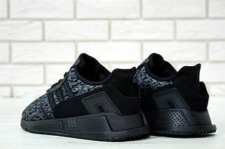 """Мужские кроссовки Adidas EQT Running Support ADV """"Black/Grey"""", фото 2"""