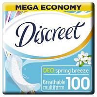Discreet. Ежедневные гигиенические прокладки Deo Spring Breeze,  100 шт. (162113)