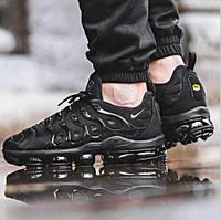 Мужские кроссовки в стиле Nike Air VaporMax Plus, черные, фото 1