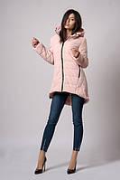 Модная женская куртка цвета пудры (к-103)