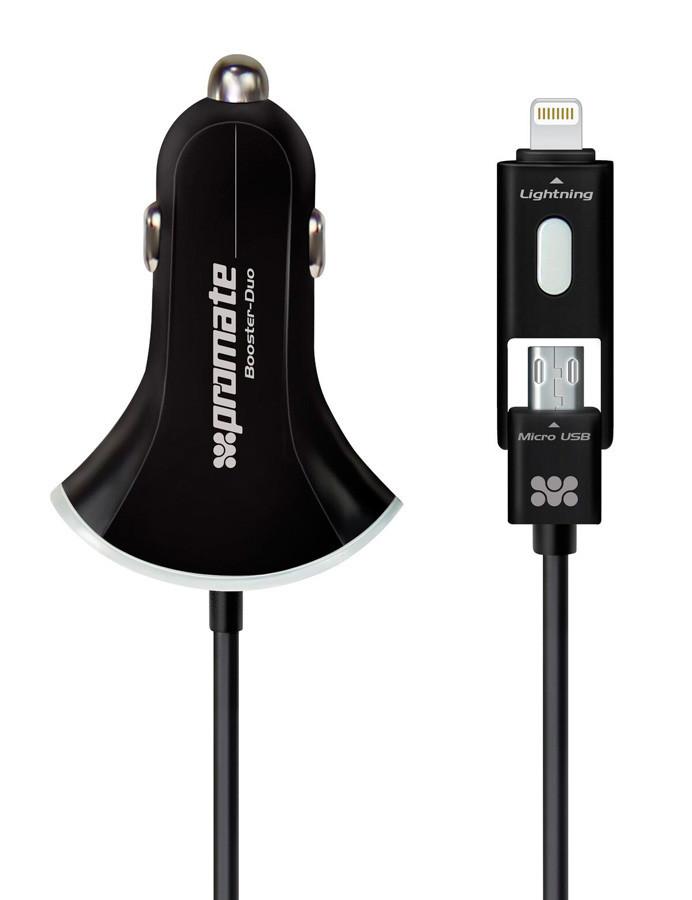 Автомобильное зарядное устройство Promate Booster-Duo Black