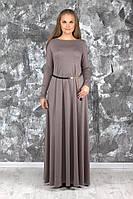 Женское платье в пол осень-зима, разные цвета