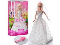 Детская кукла невеста в свадебном платье Defa Lucy 6091