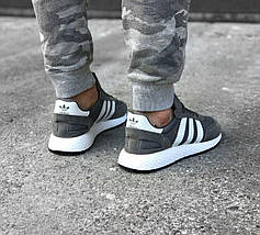 Мужские кроссовки Adidas Iniki Runner Boost Navy Grey/White, фото 3