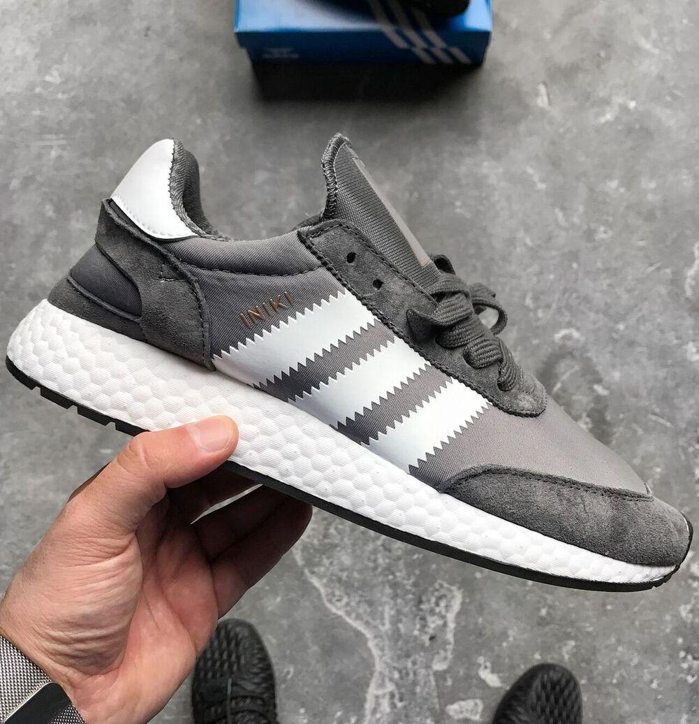 Мужские кроссовки Adidas Iniki Runner Boost Navy Grey/White