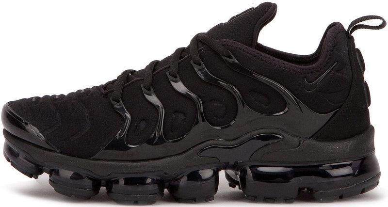 """Мужские кроссовки Nike Air VaporMax Plus """"Triple Black"""" (Найк Аир Макс) черные"""