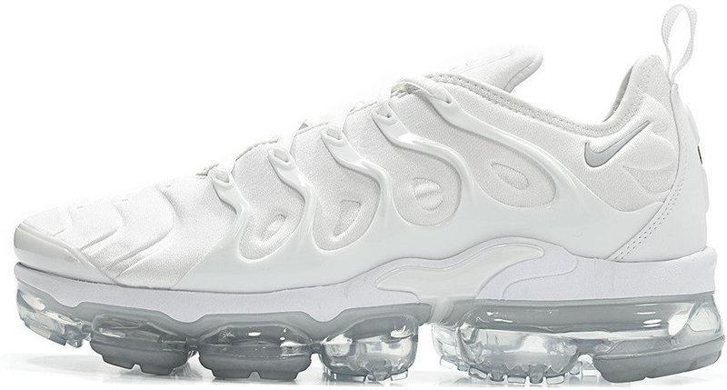 "Мужские кроссовки Nike Air VaporMax Plus ""All White"" (Найк Аир Макс) белые"