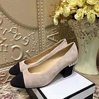 Женские туфли из натуральной замши Chanel