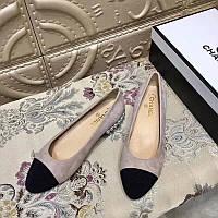 Замшевые балетки с бусинами Chanel