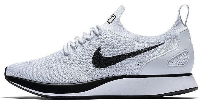 Мужские кроссовки Nike Air Zoom Mariah Flyknit Racer (Найк Аир Зум) белые