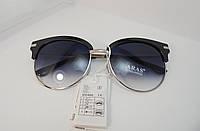 Модные черные круглые очки  в серебрянной оправе