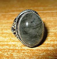 """Кольцо с турмалиновым кварцем волосатиком """"Восток"""", размер  17,5 от студии LadyStyle.Biz, фото 1"""