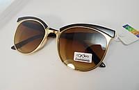 Модные очки с коричневыми линзами ,оправа кофе с молоком