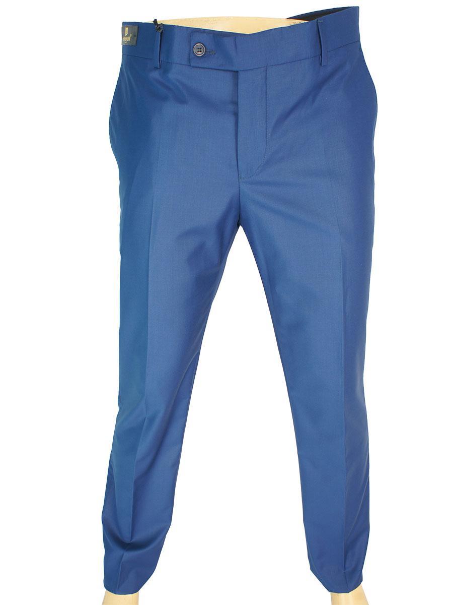 Класичні чоловічі штани Monzeratti Slim blue синього кольору