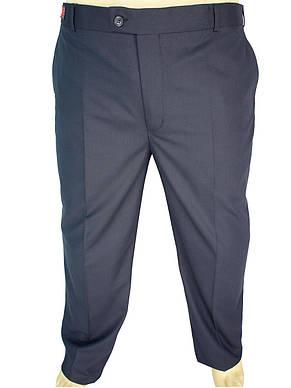 Класичні чоловічі брюки Monzeratti 0679 dark blue cell в клітку, фото 2