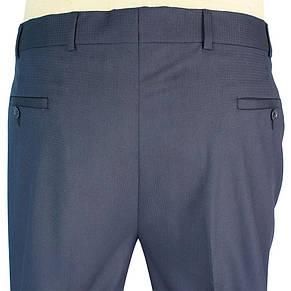 Класичні чоловічі брюки Monzeratti 0679 dark blue cell в клітку, фото 3