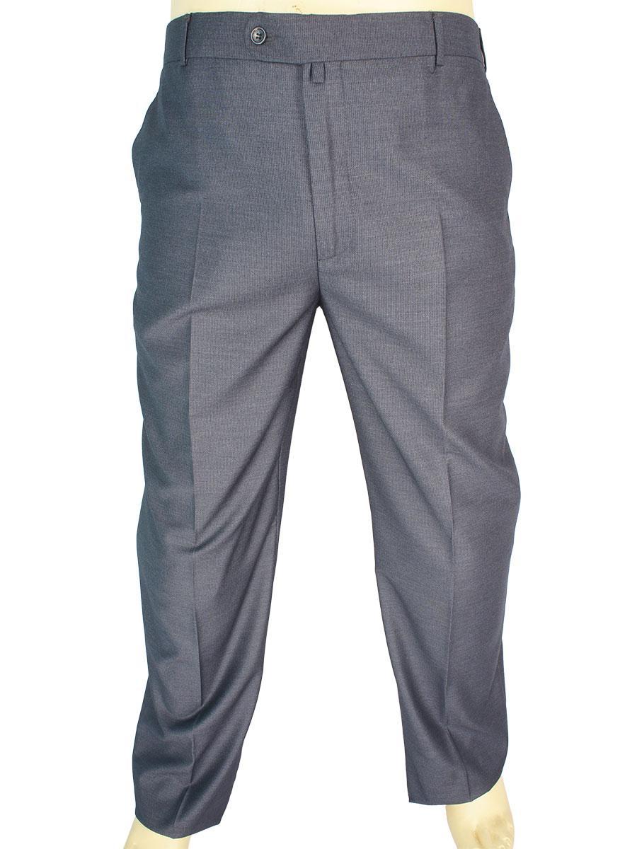 Класичні сірі чоловічі штани Monzeratti 0679 grey strip великого розміру