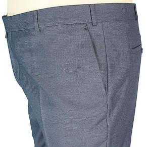 Класичні сірі чоловічі штани Monzeratti 0679 grey strip великого розміру, фото 2