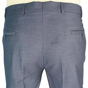 Класичні сірі чоловічі штани Monzeratti 0679 grey strip великого розміру, фото 3