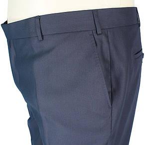 Темні чоловічі класичні брюки Monzeratti 0679 black strip великого розміру, фото 2