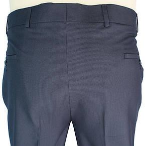 Темні чоловічі класичні брюки Monzeratti 0679 black strip великого розміру, фото 3