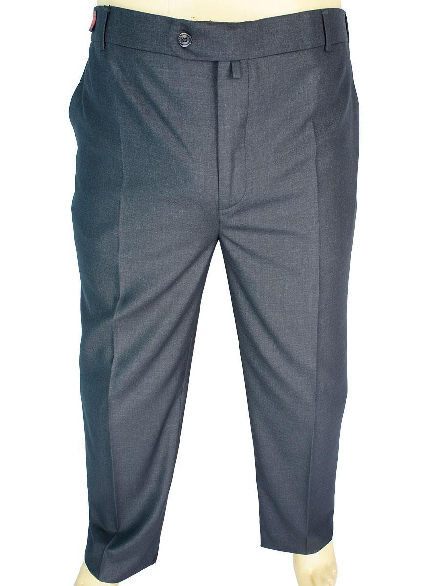 Чоловічі класичні брюки Monzeratti 0679 dark grey cell темно-сірого кольору