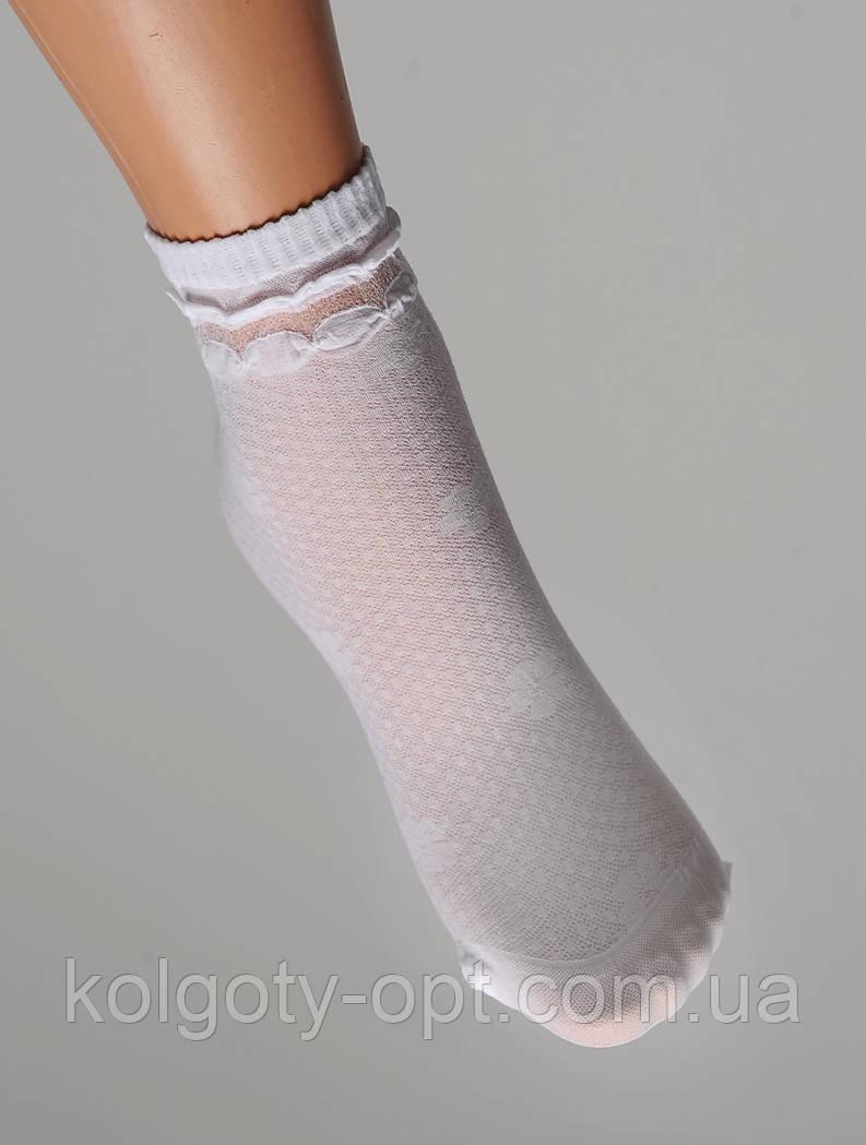 Дитячі білі капронові шкарпетки «Слоник» польські