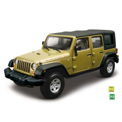 Автомодель Bburago - Jeep Wrangler Unlimited Rubicon (ассорти зеленый металлик, зеленый, 1:32)