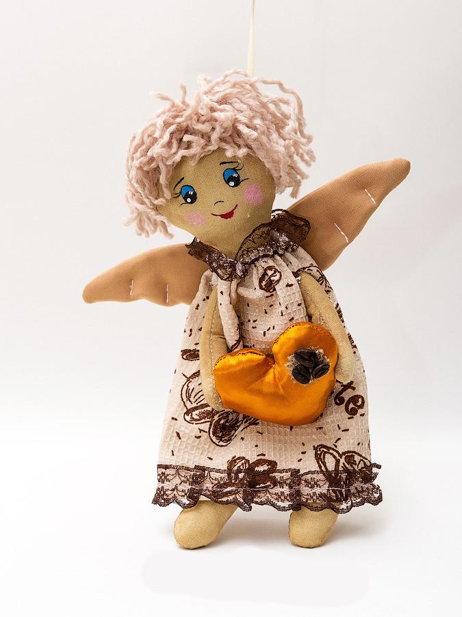 Кукла Бязевая Кофейный Ангел девочка.