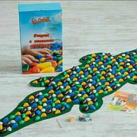 Массажный коврик-дорожка ''Крокодил'' с камнями , фото 1