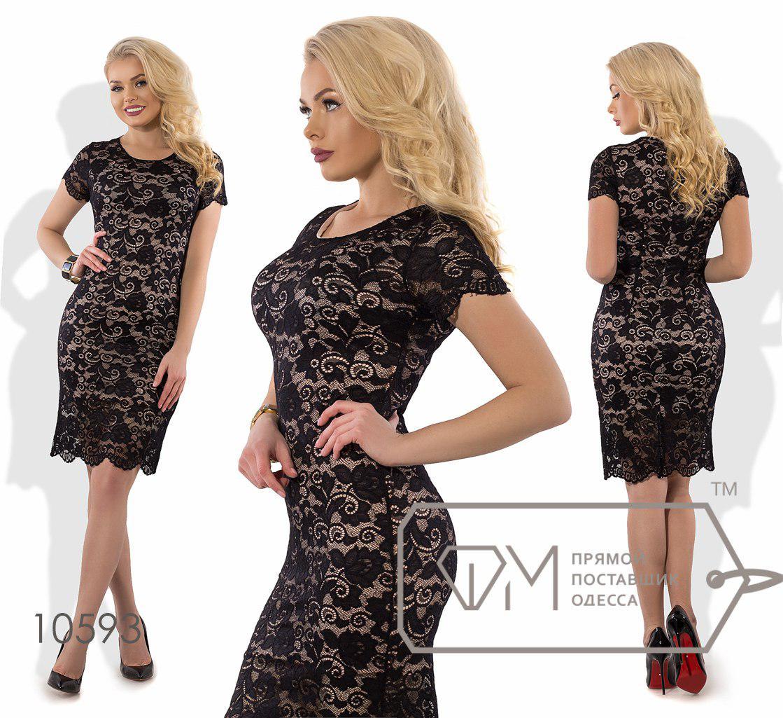 c7e0f87c9da Платье из гипюра на трикотажном подкладе ТМ Фабрика моды Размеры  S ...