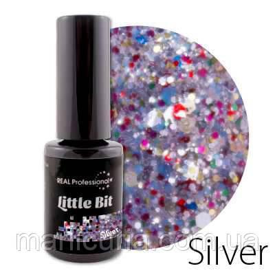Гель-лак Real Professional Little Bit Silver, 6 мл