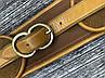 Стильный ремень коричневого цвета с кожаными элементами  AS18131, фото 2